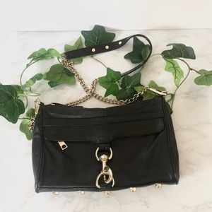 Rebecca Minkoff MAC Black Leather Crossbody Bag